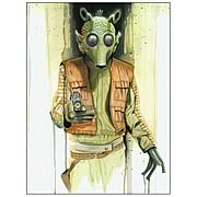 Star Wars Greedo Bounty Hunter Collection Art Lithograph