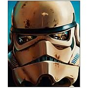 Star Wars Sandtrooper Small Canvas Giclee Print