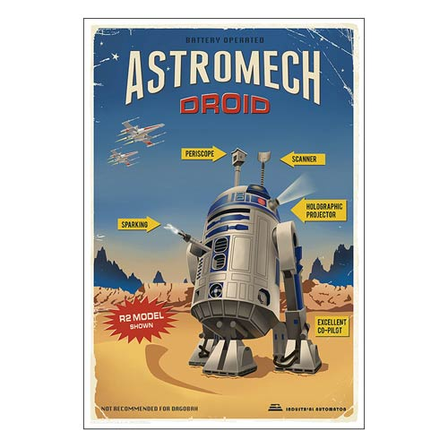 Star Wars R2-D2 Astromech Droid Retro Ad Poster Paper Giclee