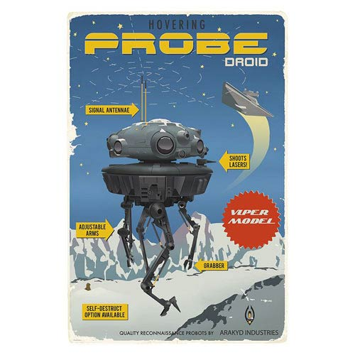 Star Wars Probe Droid Retro Advertisement Poster Giclee