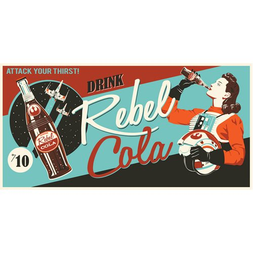 Star Wars Rebel Cola Gallery-Wrapped Canvas Giclee Art Print