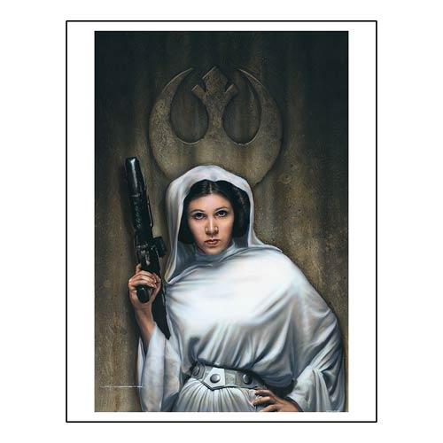 Star Wars Rebel Princess Paper Giclee Print