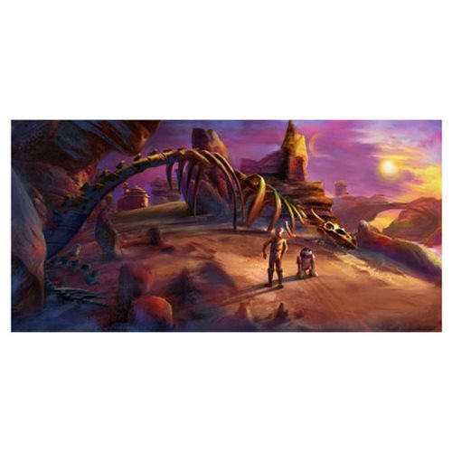 Star Wars Road to Jabba's Palace Canvas Giclee Print
