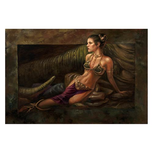 Star Wars Leia Study by Lee Khose Rolled Giclee Print