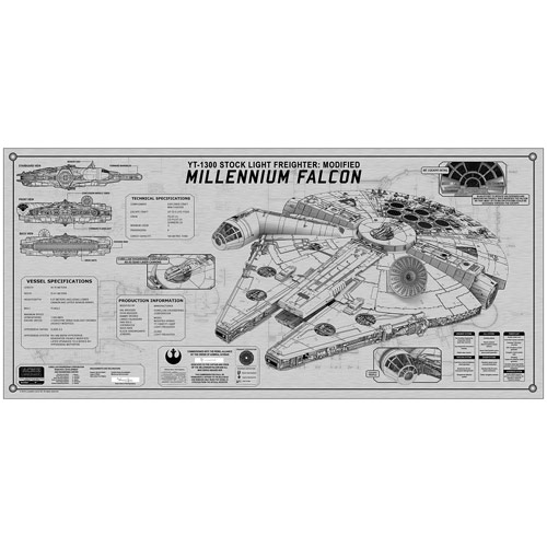 Star Wars Millennium Falcon Framed Spec Plate