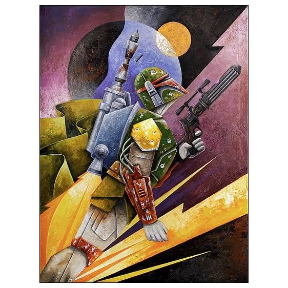 Star Wars Boba Fett Hunter Paper Giclee Print