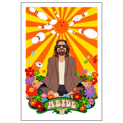 The Big Lebowski Abide Lithograph Print, Not Mint