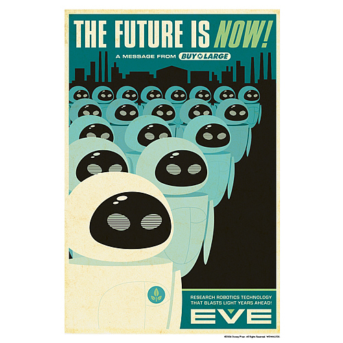 Wall-E The Future is Now Paper Giclee Print