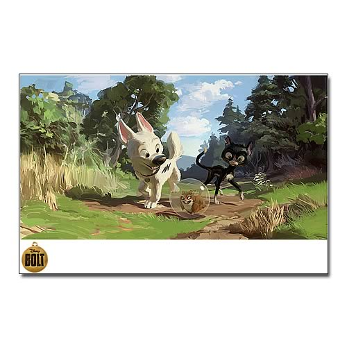 Disney Bolt On The Road Again Paper Giclee Print