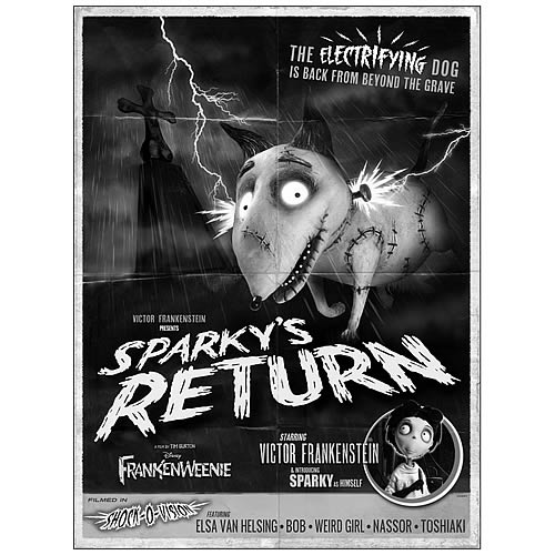 Frankenweenie Sparky's Return Poster Canvas Giclee Print