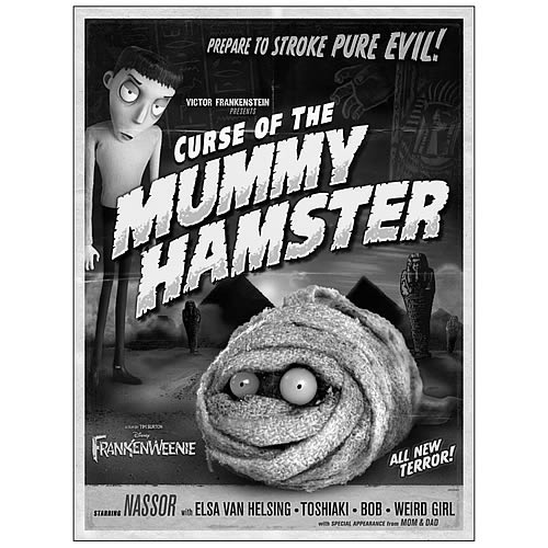 Frankenweenie Curse of the Mummy Hamster Canvas Giclee Print