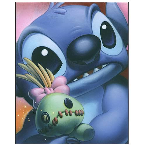 Lilo & Stitch Smile Series Stitch Canvas Giclee Print