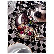 Alice in Wonderland Mad Hatter Tea Party Large Canvas Print