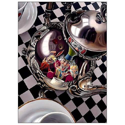 Alice in Wonderland Mad Hatter Tea Party Small Canvas Print