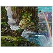 Bambi the Precipice Canvas Giclee Print
