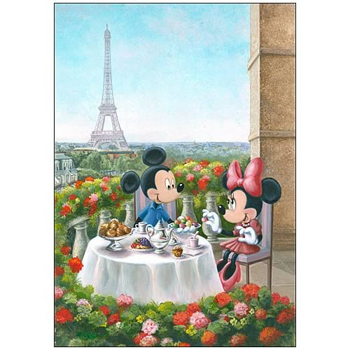 Mickey and Minnie Mouse Les Macarons Canvas Giclee Print