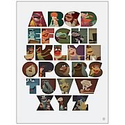 Muppets The Muppabet Fine Art Lithograph