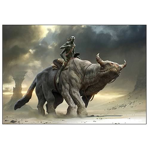 John Carter Thoat Concept Art Canvas Giclee Print