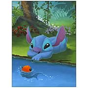 Disney Limited Stitch and His Fishy Friend Canvas Giclee