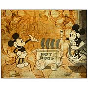 Disney Underground Hot Dog Cart Canvas Giclee Print