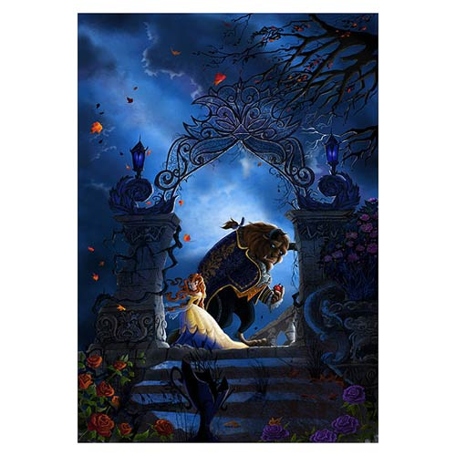 Beauty and the Beast Beastly Garden Canvas Giclee Print