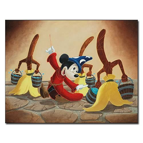 Disney Underground Mickey Mouse Broom Dance Giclee Print