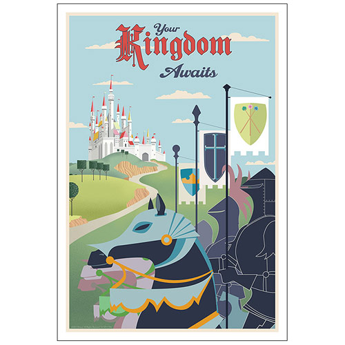 Sleeping Beauty Your Kingdom Awaits Canvas Giclee Print