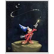 Disney Limited A Little Night Magic Paper Lithograph Print