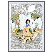 Disney Underground Snow White Woodland Friends Paper Giclee