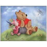 Disney Limited Winnie the Pooh Sunny Day Smiles Lithograph