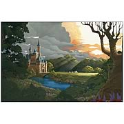 Disney Limited Cinderella Sunset Return Canvas Giclee Print