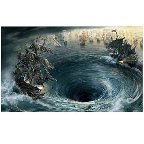 Pirates of the Caribbean Maelstrom Paper Giclee Print