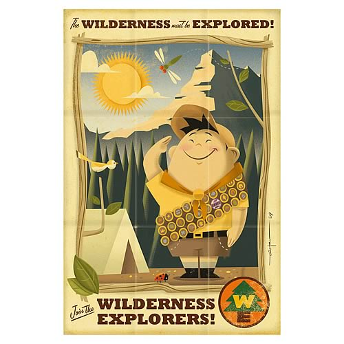Disney-Pixar Up Wilderness Must Be Explored Giclee Print