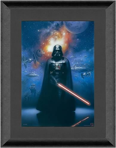 Darth Vader Framed Canvas Giclée Print