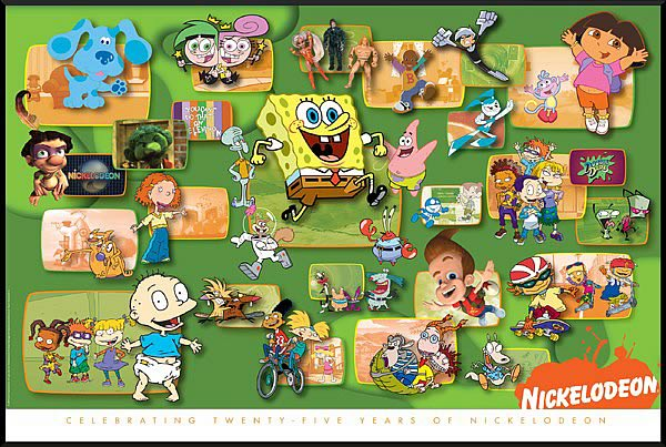 Nickelodeon 25th Anniversary Litho Print