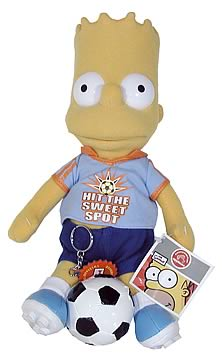 Bart Simpson Soccer Plush