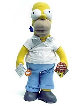 18 inch Plush Homer Simpson