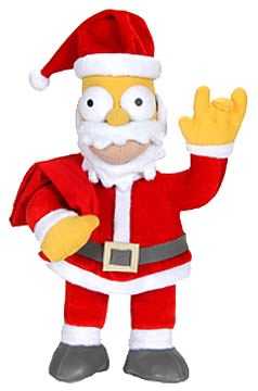 Holiday Homer as Santa Claus Plush
