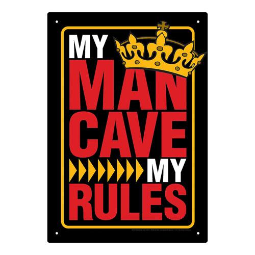 Man Cave Tin Signs : Man cave rules tin sign aquarius novelties signs at