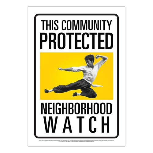 Bruce Lee Community Watch Tin Sign