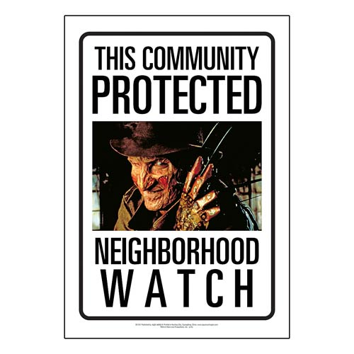 Nightmare on Elm Street Community Watch Tin Sign