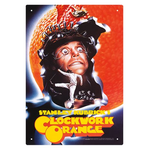 A Clockwork Orange One Sheet Tin Sign