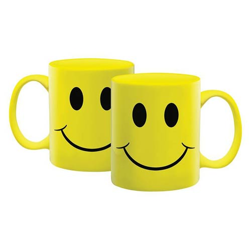 Happy Face 12 oz Ceramic Mug