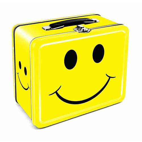 Happy Face Large Fun Box Tin Tote