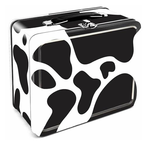 Cow Large Fun Box Tin Tote