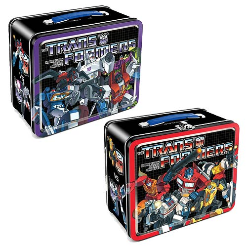 Transformers Autobots vs. Decepticons Tin Lunch Box
