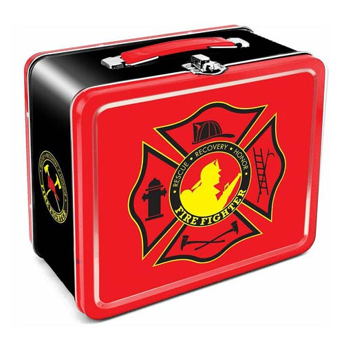 Firefighter Tin Lunch Box