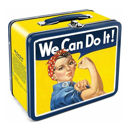 Smithsonian Rosie We Can Do It Tin Lunch Box