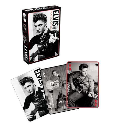Elvis Presley Black and White Playing Cards