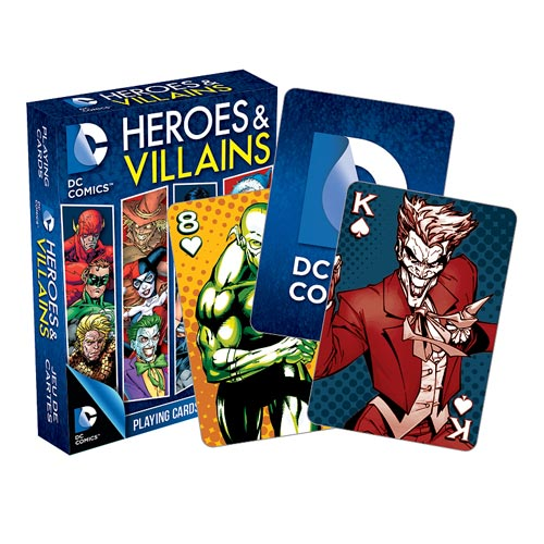 DC Comics Heroes and Villians Playing Cards